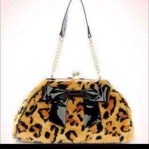 Pinup couture leopard handbag.
